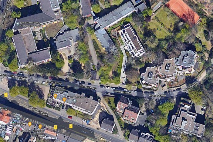 Google-Map: Hier stand das Restaurant Wolfsschlucht