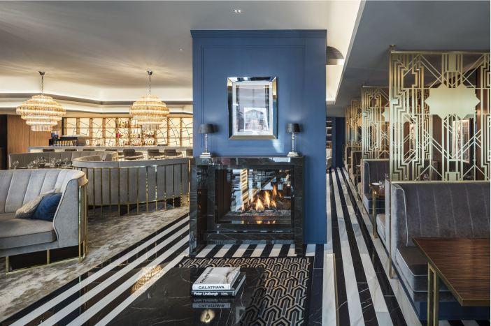Stilvoll, stilvoll: die Lounge im Grand Etoile (Foto: GE)
