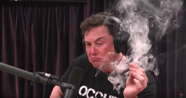 Elon Musk Smoking Pot tesla