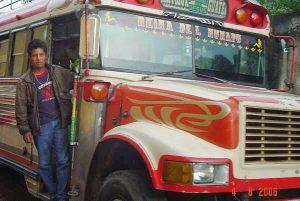 Tourism wants: Guatemala, Antigua: the Chicken Bus