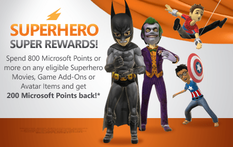 Superhero Rewards on Xbox LIVE Rewards