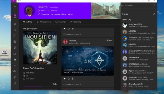Xbox on Windows 10 gets Party Chat & more