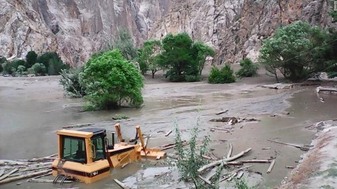 """Photo by Hira Ali, Pakistan: """"The picture shows a flooding in the mountainous area of Chitral, in the north of Pakistan. There are many glaciers high in the mountain. Due to climate change, for the past two years there has been a lot of flooding and destruction."""""""