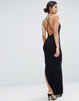 ASOS Halter Strappy Back Maxi Dress