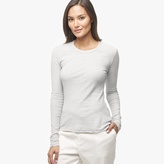 Sheer Slub Long Sleeve Crew