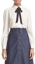 Women's Kate Spade New York Bow Tie Silk Blouse