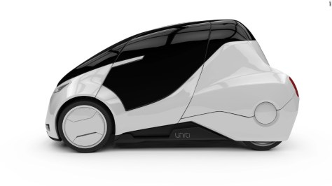"""Swedish start-up <a href=""""http://www.unitisweden.com"""" target=""""_blank"""">Uniti</a> is hoping to redefine urban transport of the future with a two-seater that will weigh just 400 kilos, have a range of 150 kilometers (93 miles) and a top speed of 55 mph."""