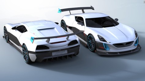 """The Concept S is essentially a GT version of the Concept One, featuring a big front splitter, air deflectors, side skirts, diffuser and a large rear spoiler. Rimac has no plans to make a new model in 2017 but will be looking to break world records. <br /><br />""""The goal in the upcoming year is to break some records to show Concept One is the fastest production car ever -- not just the fastest electric car but the fastest among all other gas-powered cars,"""" Rimac's COO Monika Mikac told CNN."""