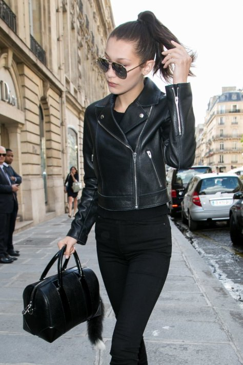 A Classic Moto-Style Leather Jacket