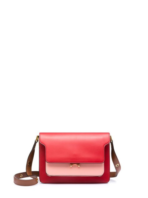 """I am loving the new colors for Marni's trunk bag ($2,350). 2017 is about bright colors when it comes to accessories, so the red and pink color combo is on theme. If you wear a lot of neutrals, this crossbody bag will add that pop of color to your outfits."" — ML"