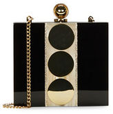 Halston Heritage Mirrored Dot Accented Miniaudiere