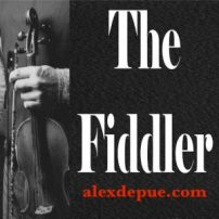 The Fiddler logo in black and white with red website address.