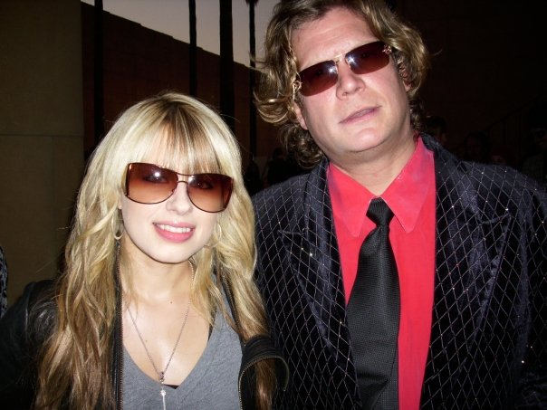 -with guitarist, Orianthi, at the House of Blues, Hollywood.