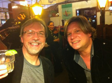 -with fiddler Mark O'Connor out for dinner in San Diego, CA.