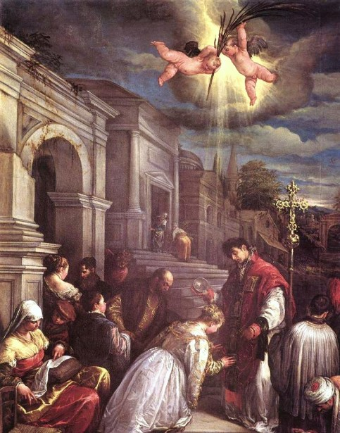 one of first-ever valentines day Saint Valentines baptising Saint Lucilla