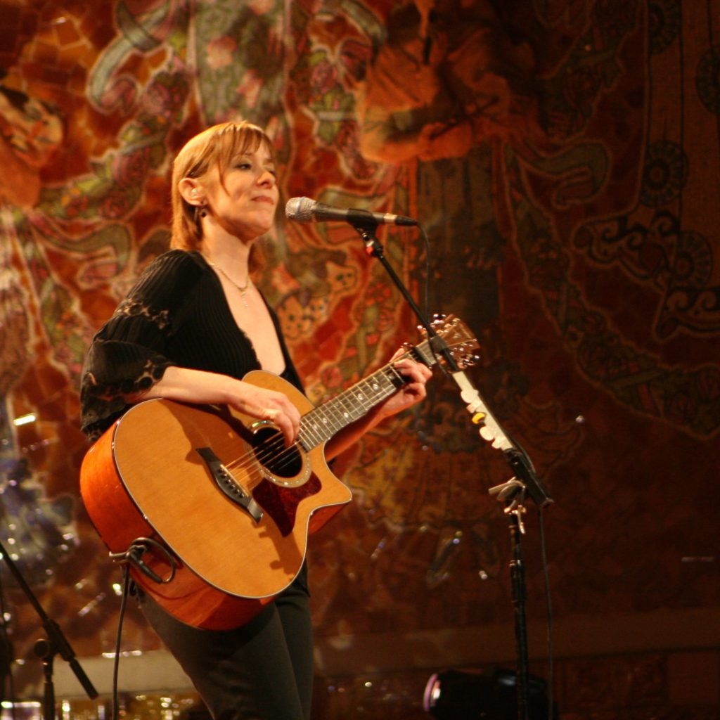 Suzanne Vega performing live on stage in 2008