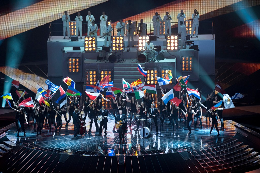 Opening act of first Eurovision ever in Düsseldorf in 2011