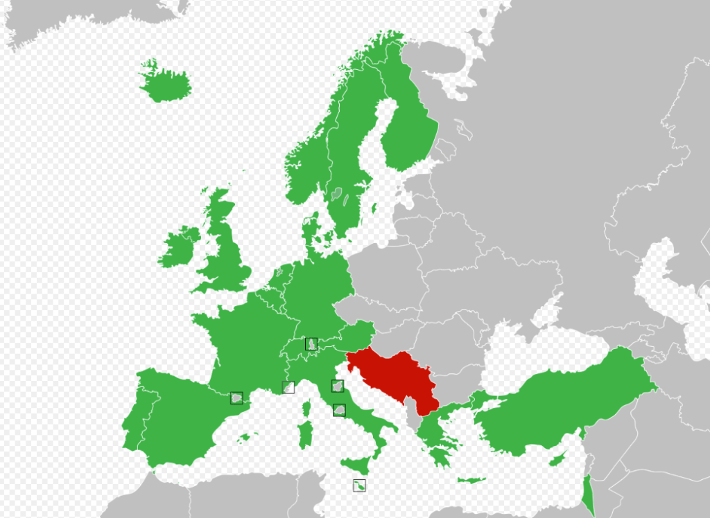 Regular participants of Eurosong competition in 1992