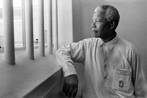 Nelson Mandela dans sa cellule de Robben Island