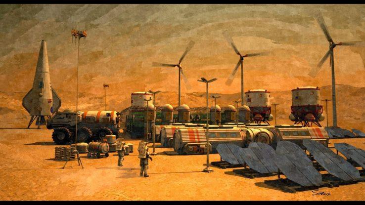 Mars base reality show