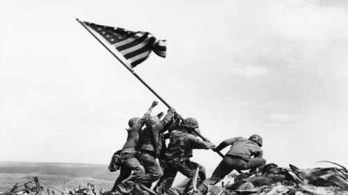 Flag-Raising-on-Iwo-Jima-the-flares