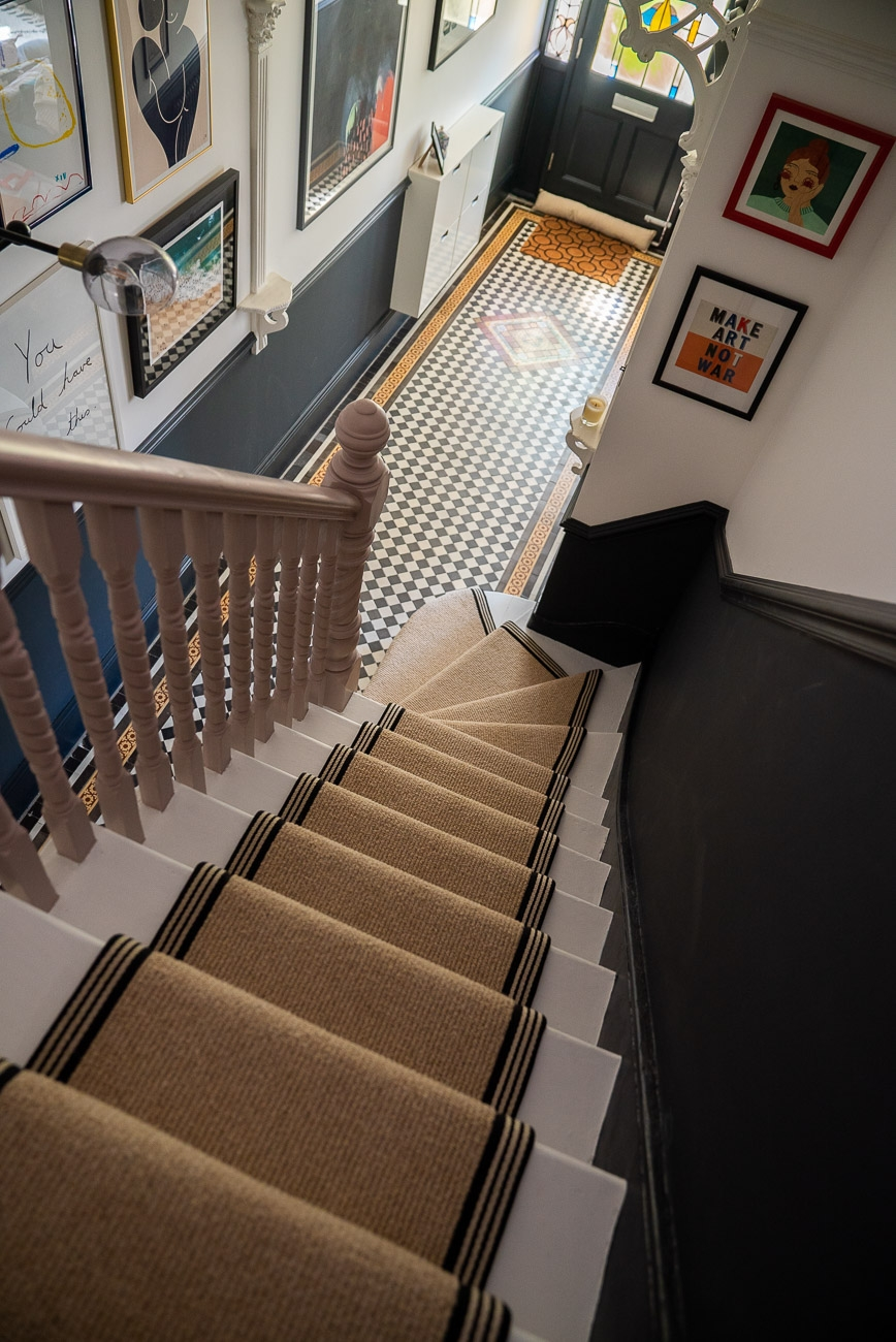 How To Achieve Your Perfect Stair Runner The Frugality | Thin Carpet For Stairs | Striped Carpet Runner | Area Rug | Stair Runners | Ultra Thin | Stair Tread