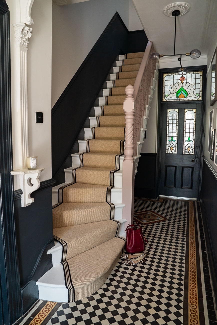 How To Achieve Your Perfect Stair Runner The Frugality | Roll Runners For Stairs | Flooring | Carpet Stair Treads | Canyon Kazmir | Persian Garden | Area Rugs