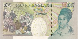 Elizabeth Fry on the £5 note
