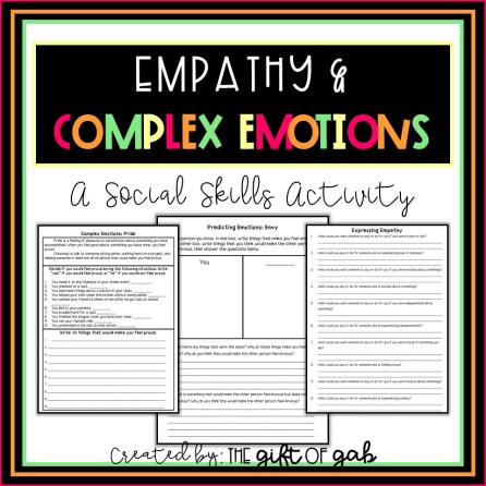 Empathy and Complex Emotions Social Skills Activity
