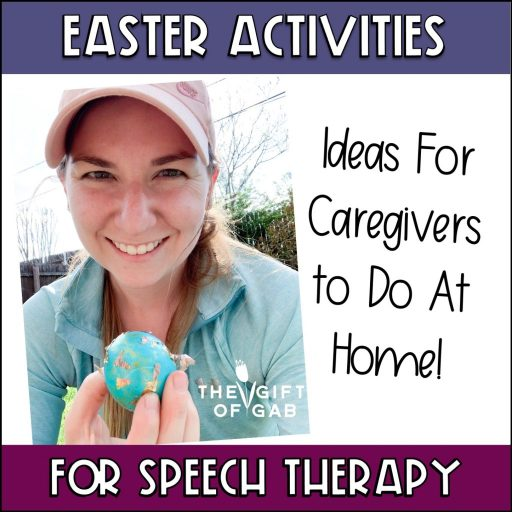 Easter speech therapy ideas and activities