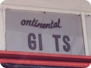 comedy shop sign