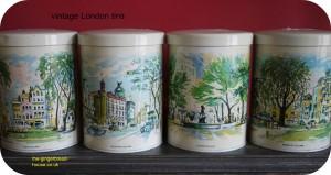 vintage London tins