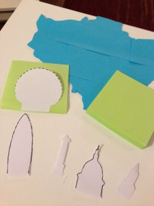 crafting with post-it notes