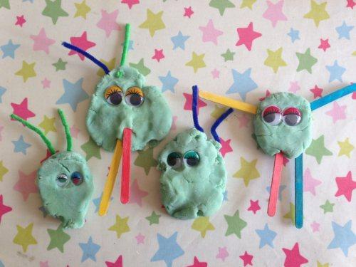 play dough aliens
