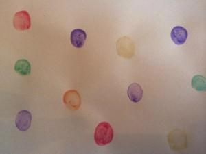 colourful fingerprints