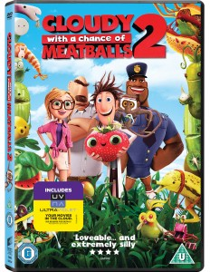 CLOUDY WITH A CHANCE OF MEATBALLS 2 DVD cover