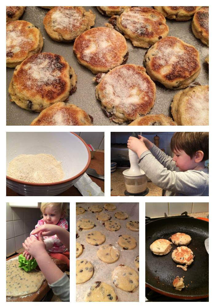 photographs of how to make Welsh cakes for St Davids Day
