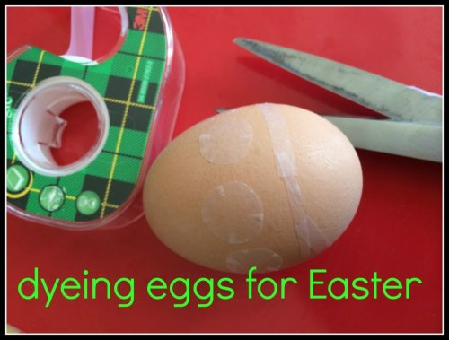 Dyeing eggs for Easter