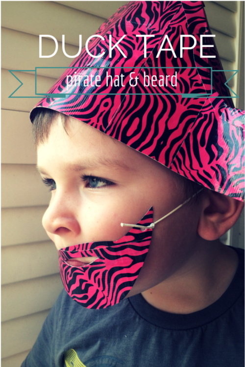 Duck Tape pirate hat - the gingerbread house