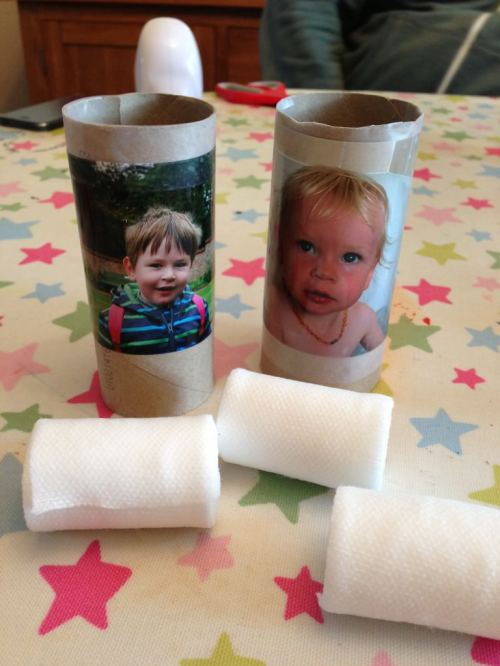 Cardboard tube mummies