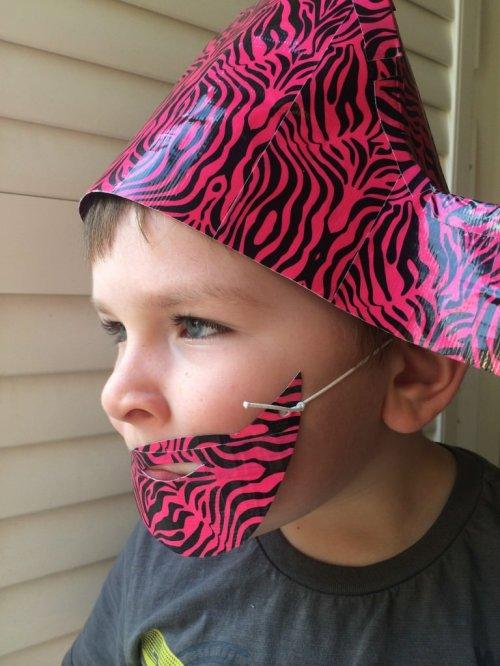 duck tape pirate hat