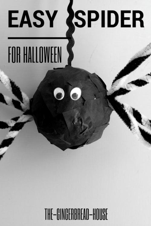Easy styrofoam spider