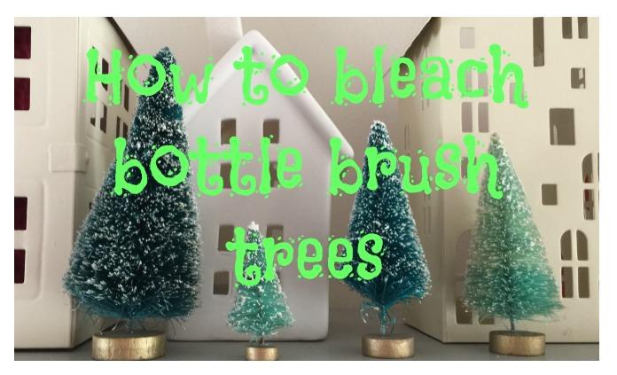 How to bleach bottle brush trees