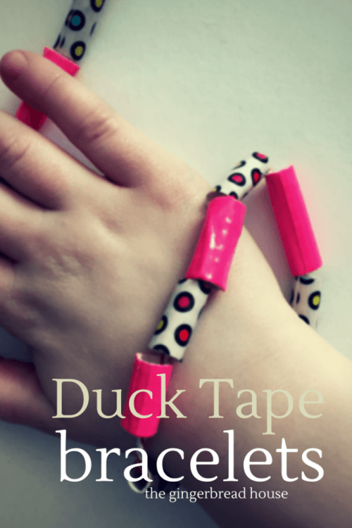 Duck Tape bracelet tutorial - the gingerbread house