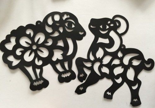 Year of the Sheep sun catcher decoration
