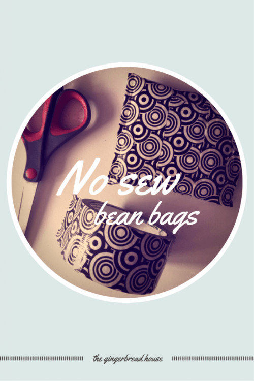 no sew bean bag tutorial