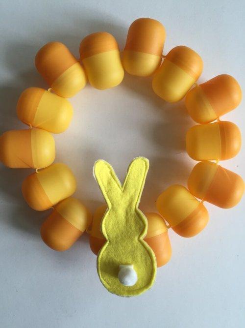 kinder egg Easter wreath