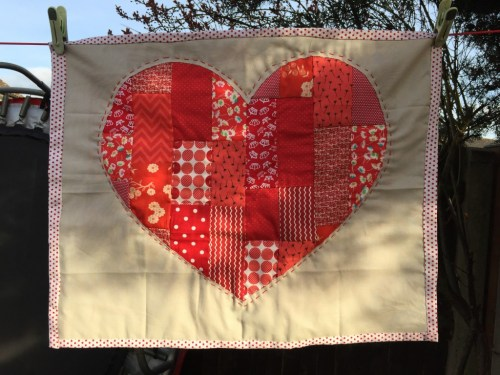 patchwork heart quilt - the gingerbread house