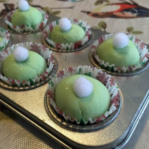 Tinkerbell playdough cakes