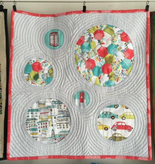 quilt made with 'street life' by Jessica Hogarth for Dashwood Studio
